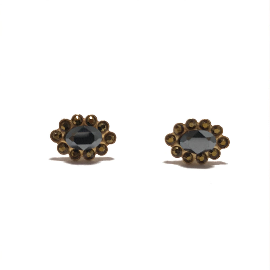 La Vie Parisienne Dorades Swarovski Post Earrings