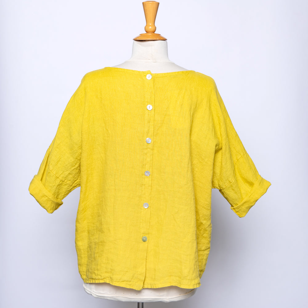 Meo Meli Linen Pocket Top