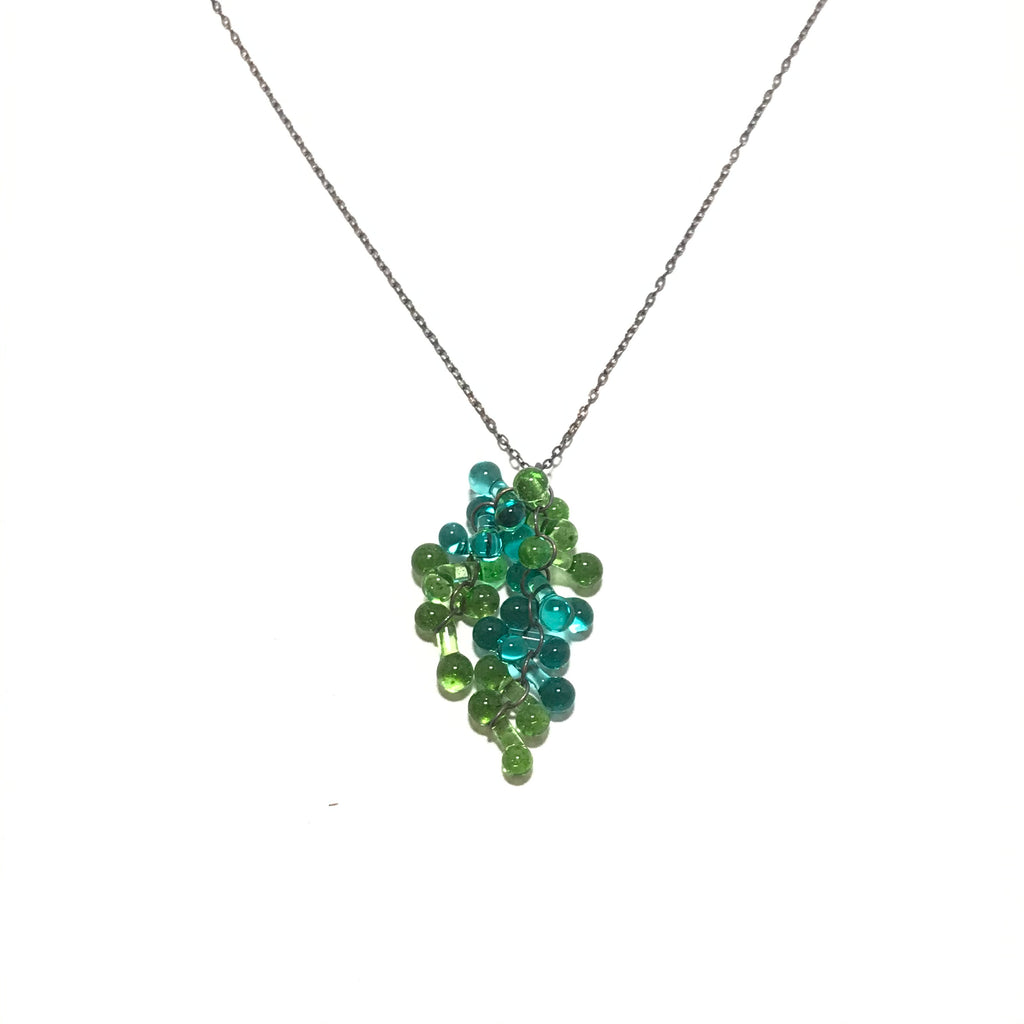 Krista Bermeo Ester Necklace in Lime and Teal