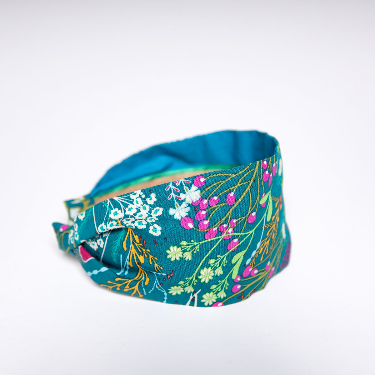 Cookie and the Dude Classic Headband in Teal Meadow