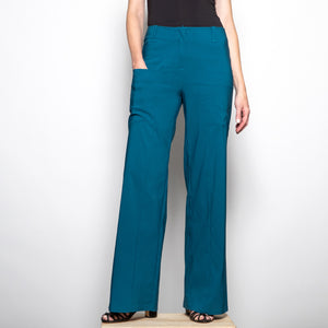 Heart Triangle Trousers in Petrol
