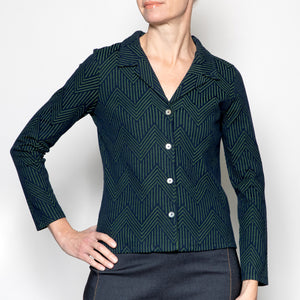 Nice Things Cotton Jacquard Blazer
