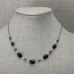 Karen Haas Ethiopian Polished Black Opal Nugget Necklace