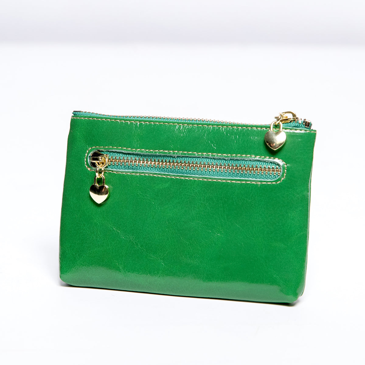 Pretty Persuasions Double Zipper Coin Purse in Green