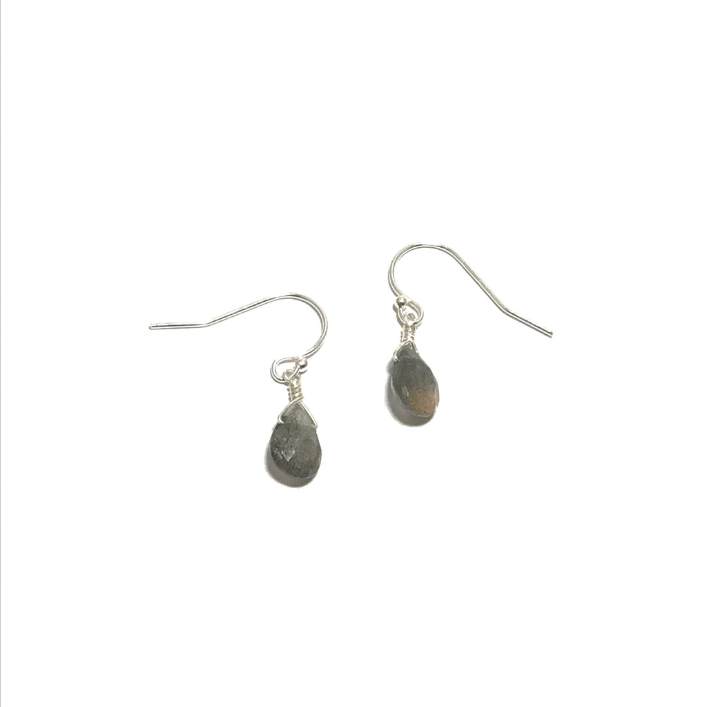 Meridian Labradorite Briolette Earrings