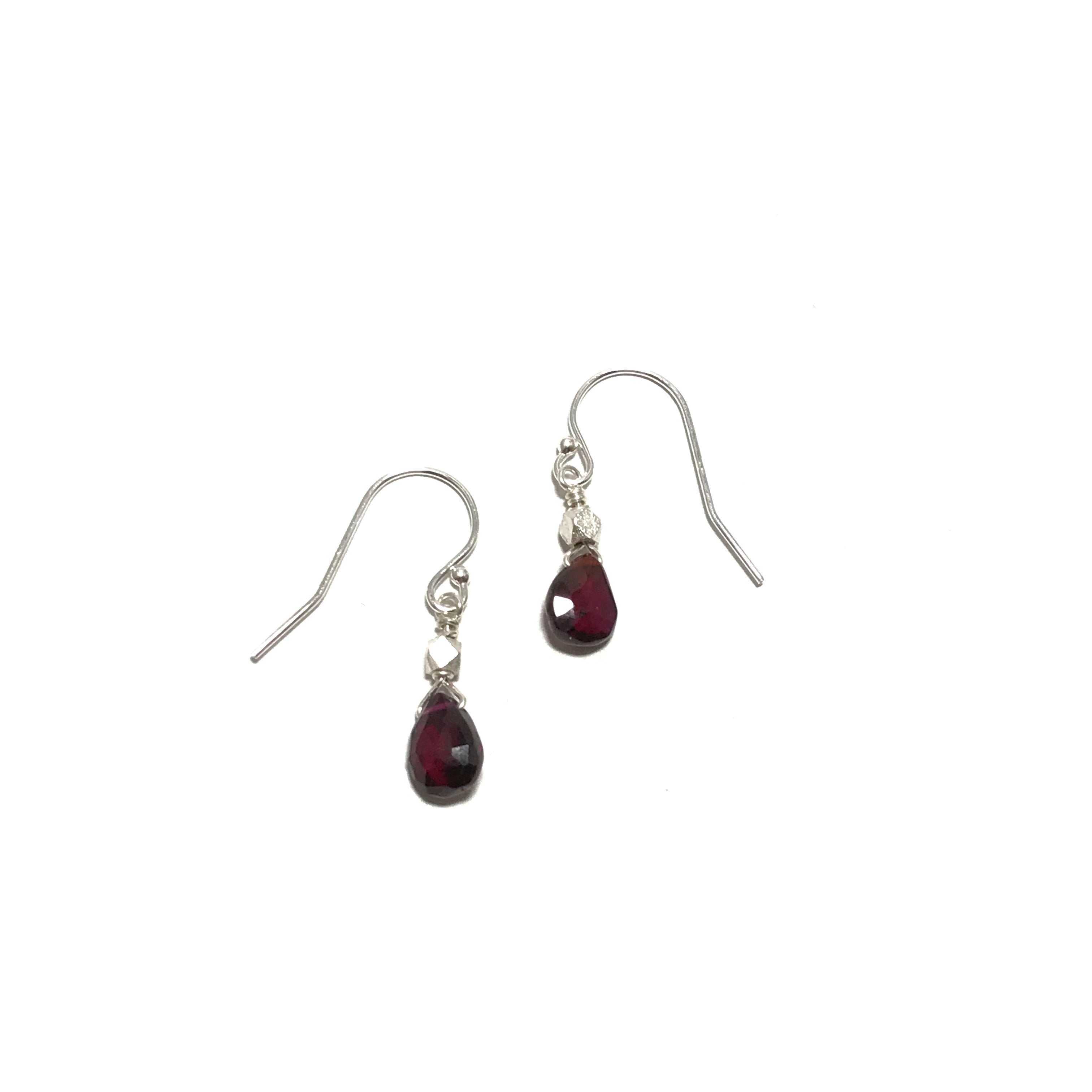 Meridian Garnet Briolette and Bead Earrings