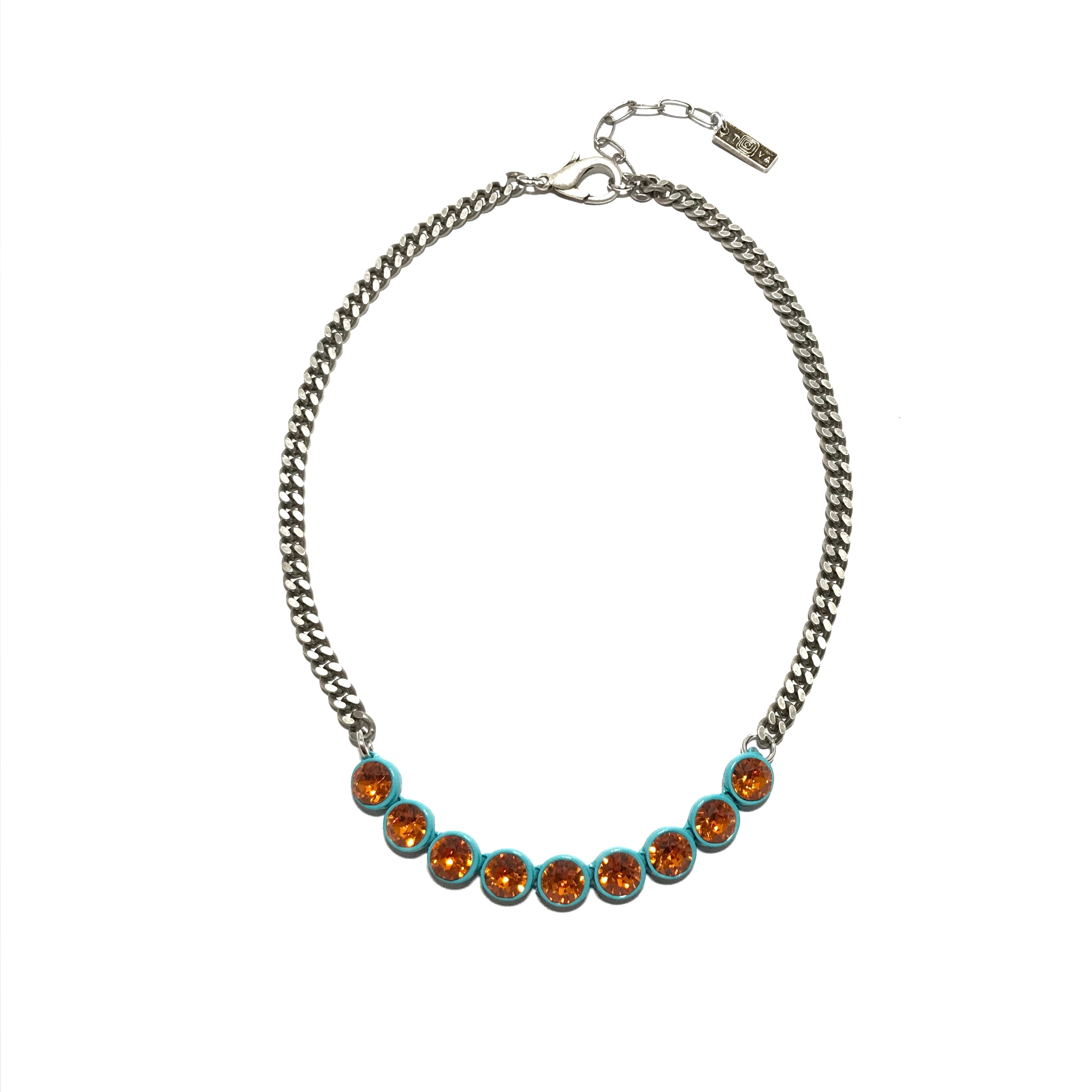 Tova-Tessa Necklace in Turquoise and Astral Pink