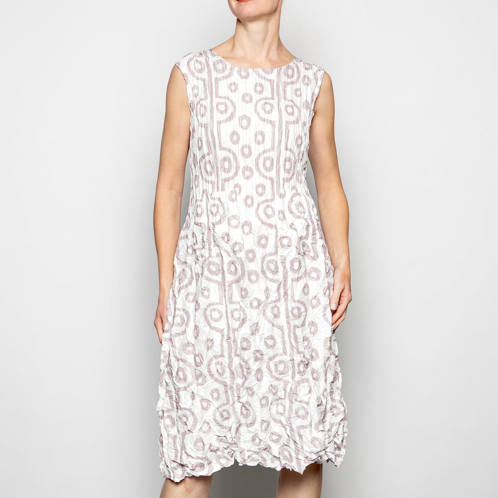 Alquema Smash Pocket Dress in Ivory Ecru Tribal