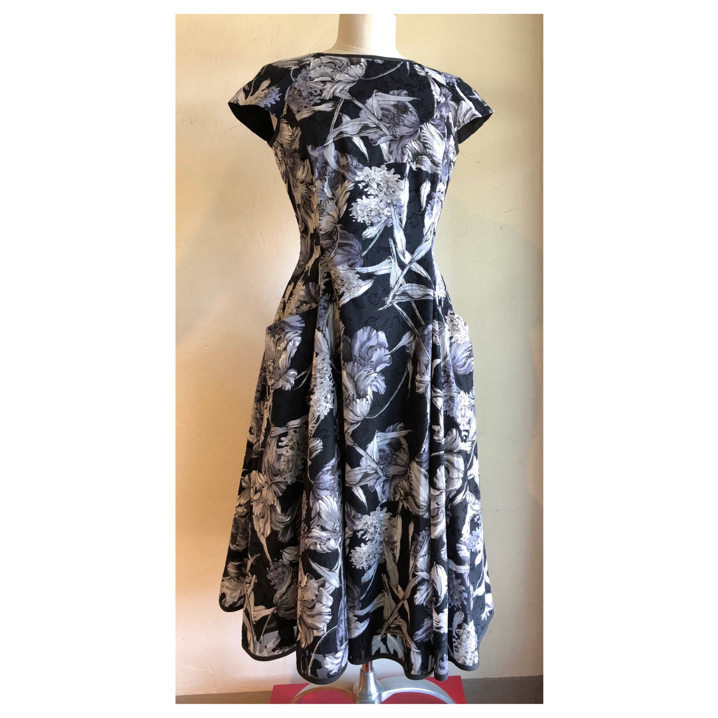 NY77 A-line Printed Dress