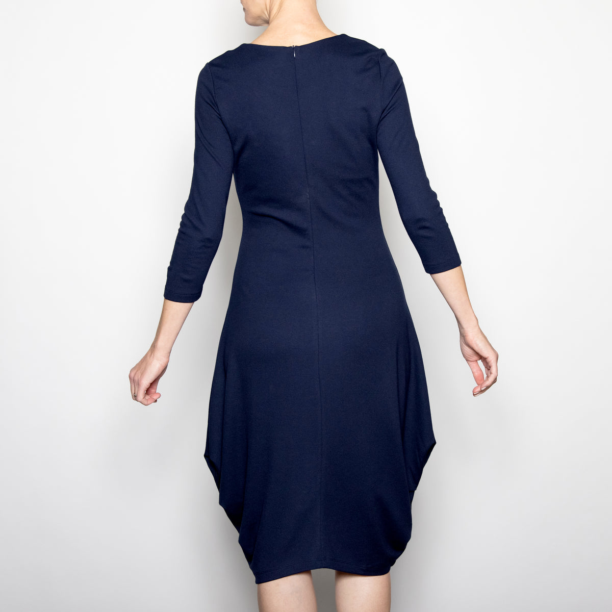 Ever Sassy Jersey Dress in Navy