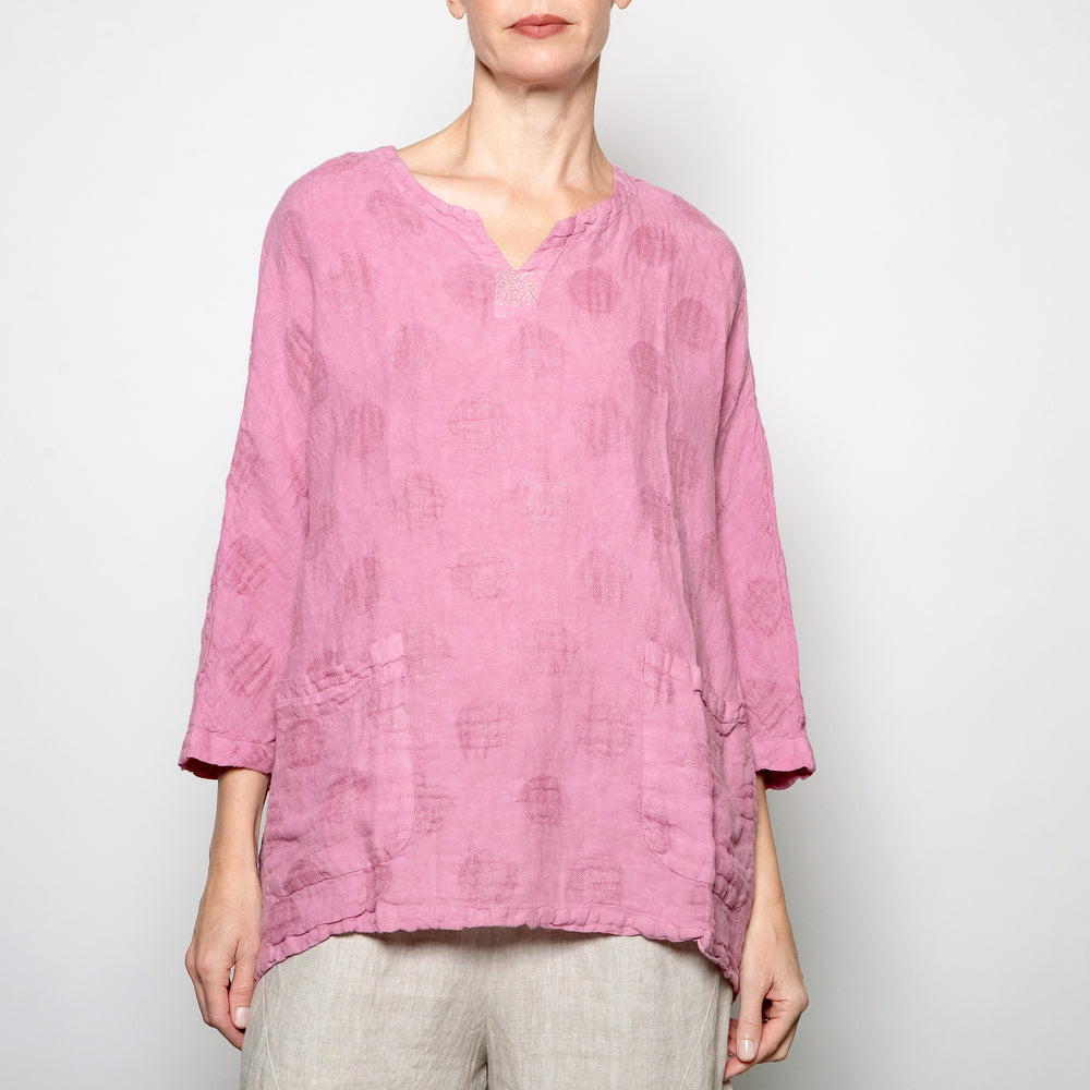 Peacock Ways Short Tunic in Pink