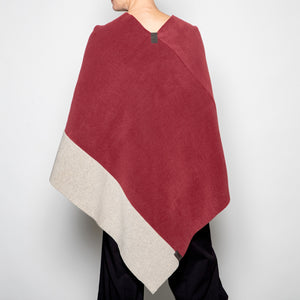 Henriette Stevenson Poncho in Wine and Sand