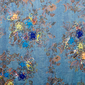 Vismaya Sky Embroidered Shawl