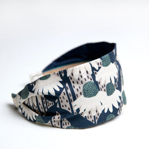 Cookie and the Dude Classic Headband in Fern Coneflower