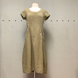 Grizas Princess Seamed Linen Dress