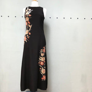 Nicole Miller Falling Flowers Embroidered Gown