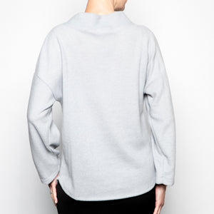 Nally & MillIe Funnel Neck Top in Silver