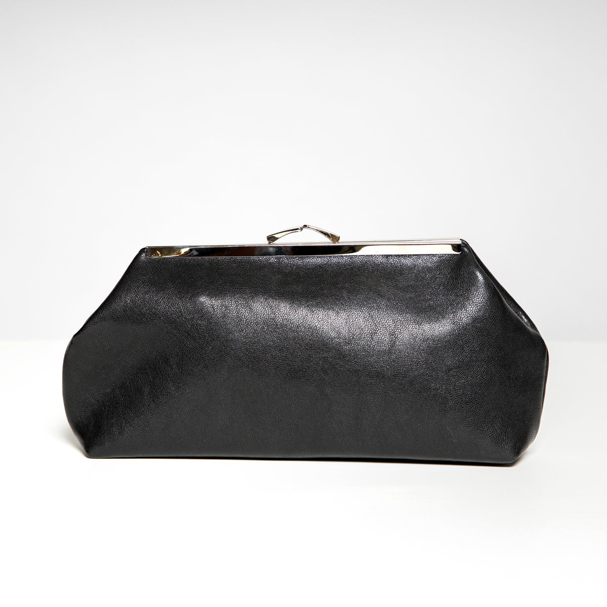 Jeanie Joe Veronica Bag in Black Faux Leather