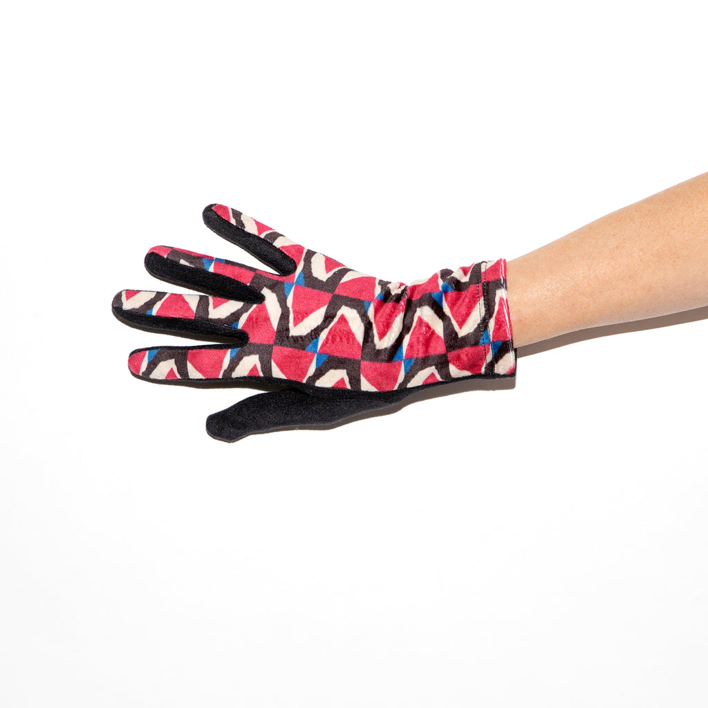 Santacana Lycra Knitted Glove in Red