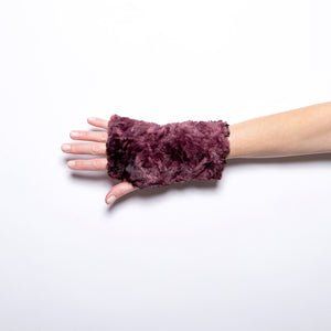 Pandemonium Fingerless Gloves in Black/Thistle
