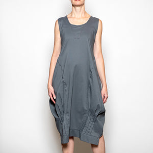 Hanna For La Journee Long Jumper with Pleating Detail-Charcoal