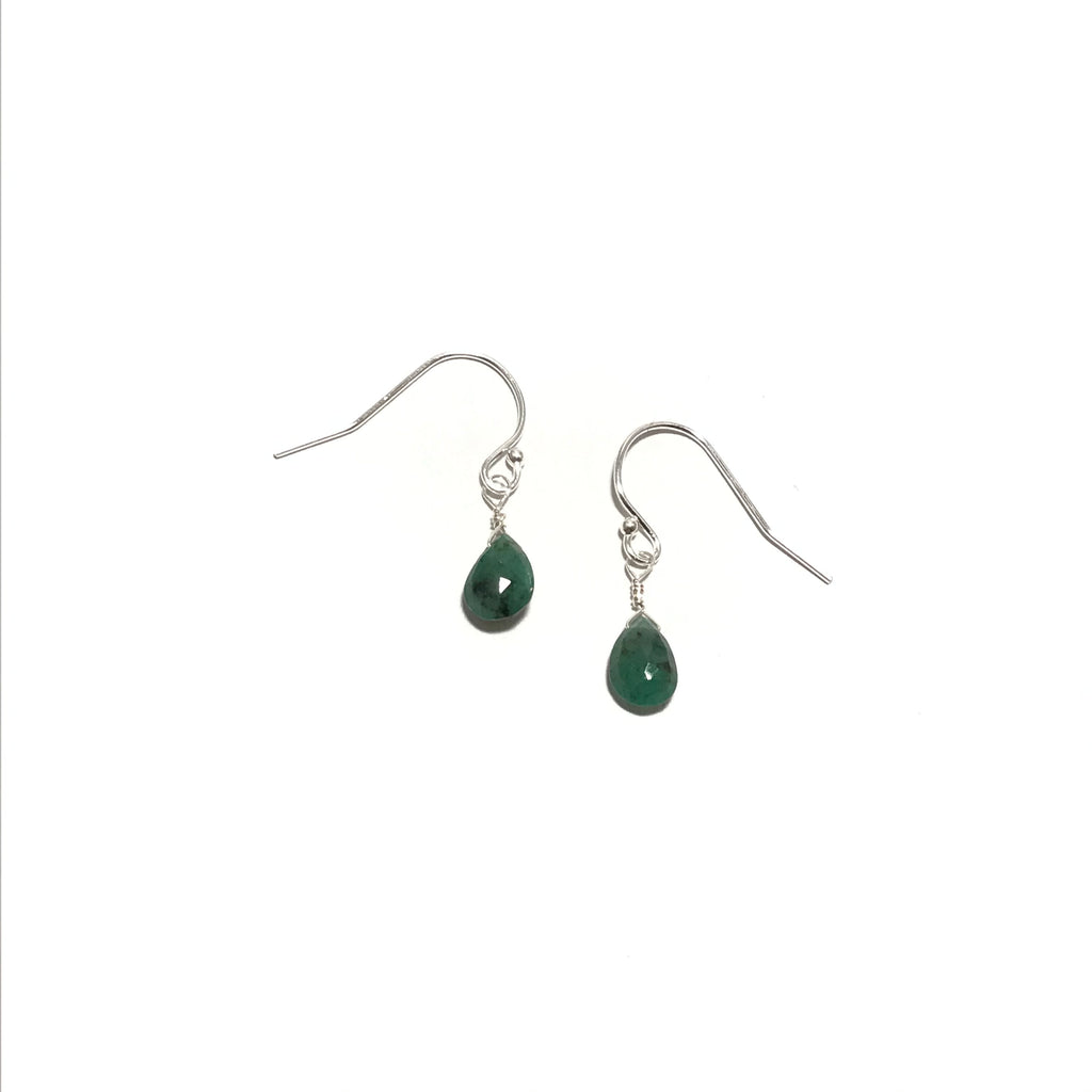 Meridian Emerald Briolette Earrings