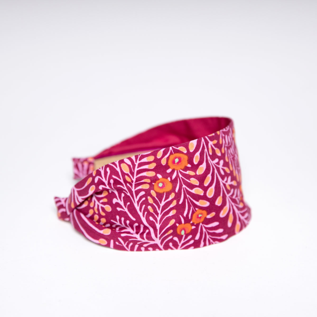 Cookie and the Dude Classic Headband in Cherry Ferns