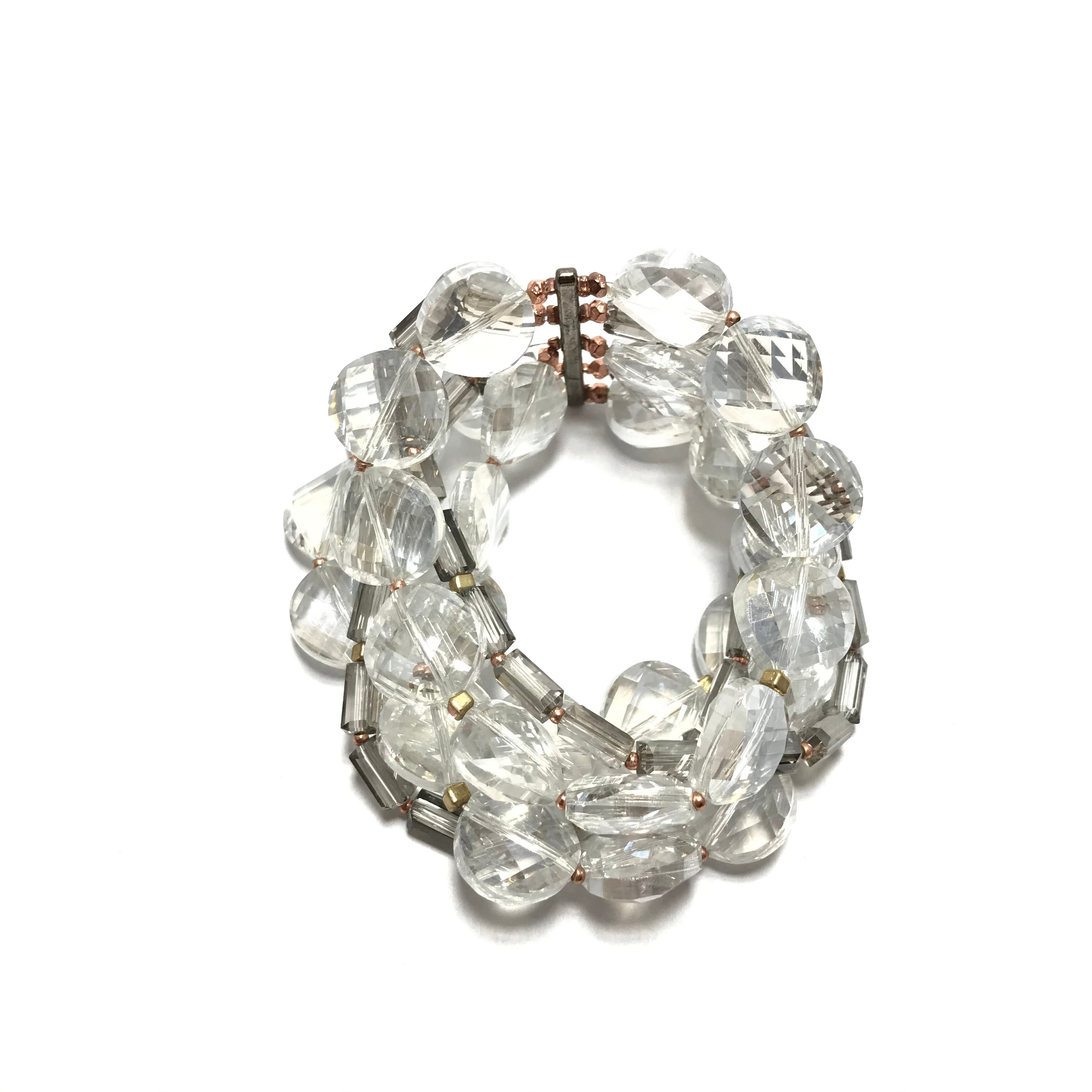 Nakamol Clear Gem Stretch Bracelet