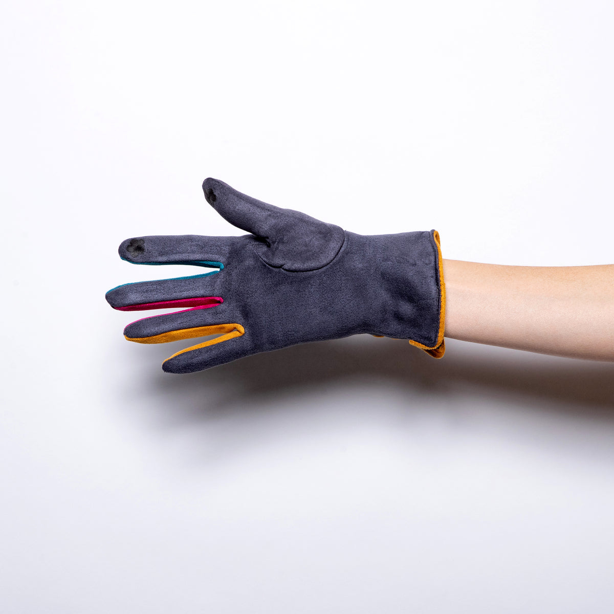 Jeanne Simmons Rainbow Finger Glove in Grey