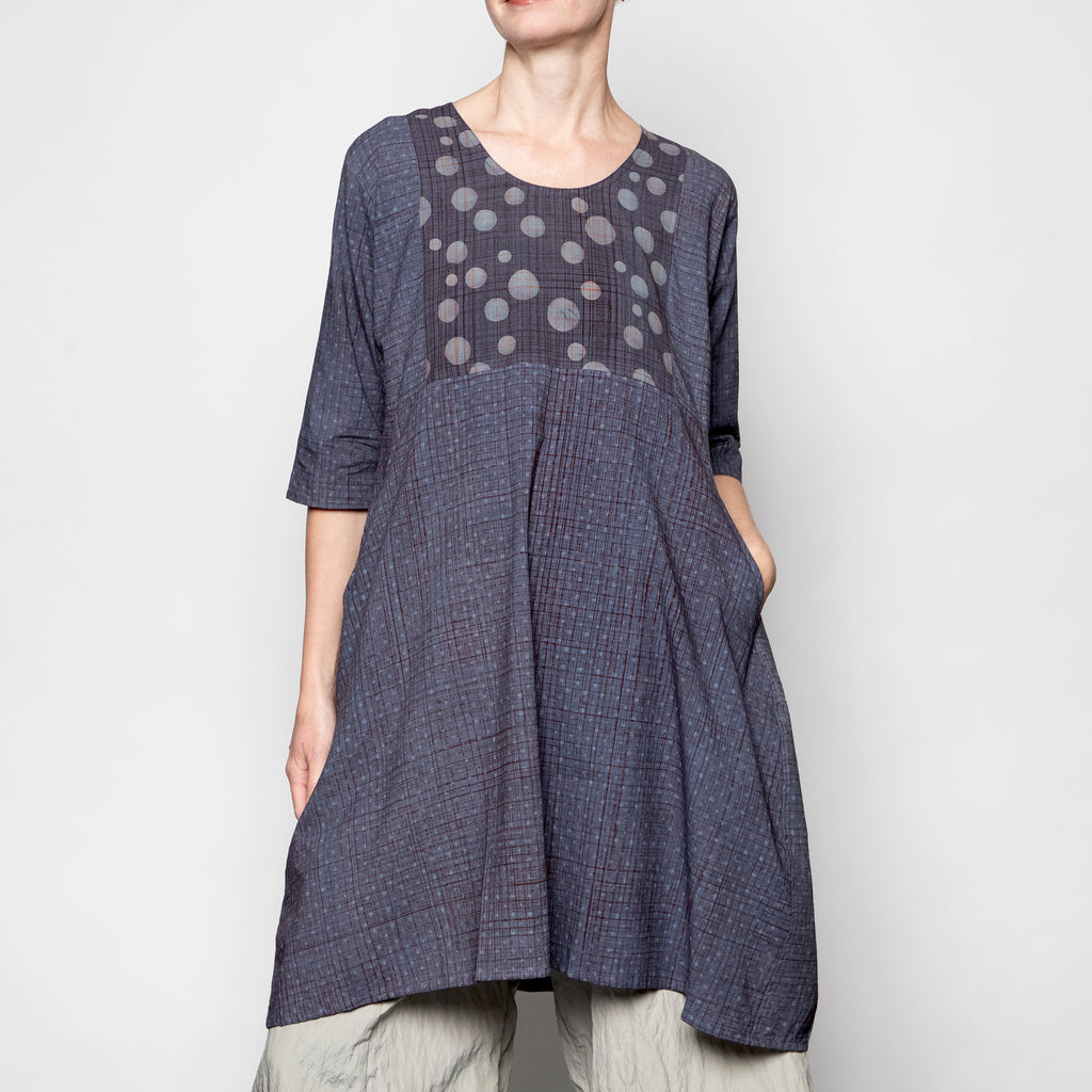 Yaza Kosama Tunic in Blue Dot