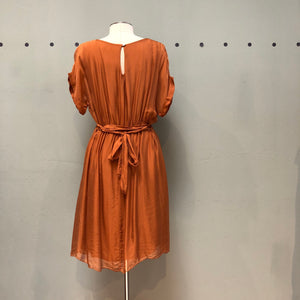 M Made in Italy Rust Silk/Jersey Dress