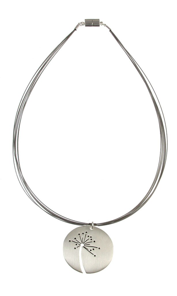 Origin Brushed Silver Wish Necklace
