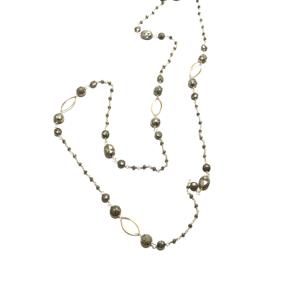 Karen Haas Pyrite Wire Wrap Necklace
