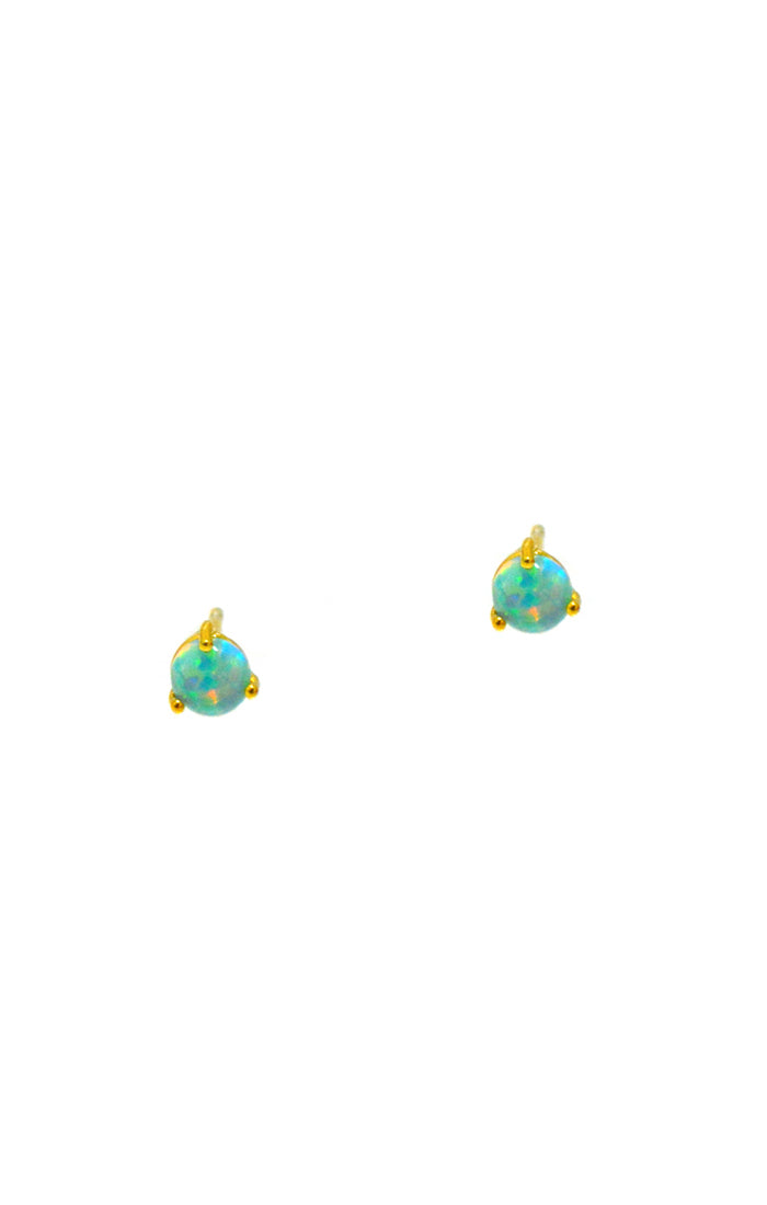 Tai Opal and Sterling Stud Earrings