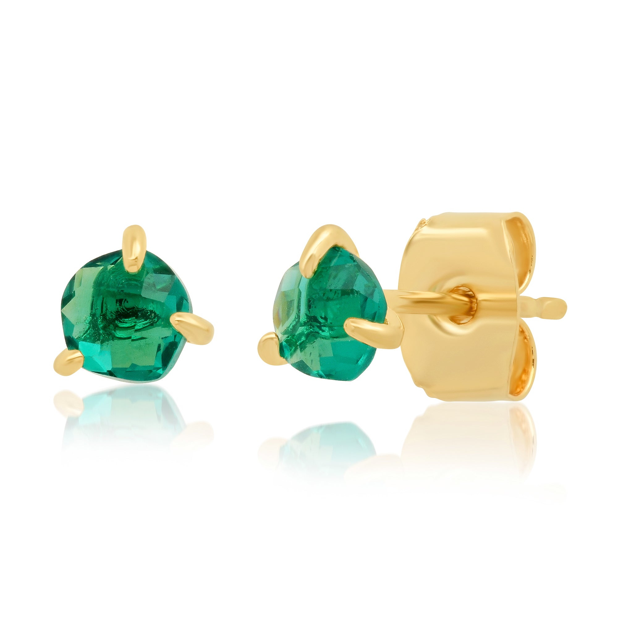 Tai Organic Glass Stud Earrings