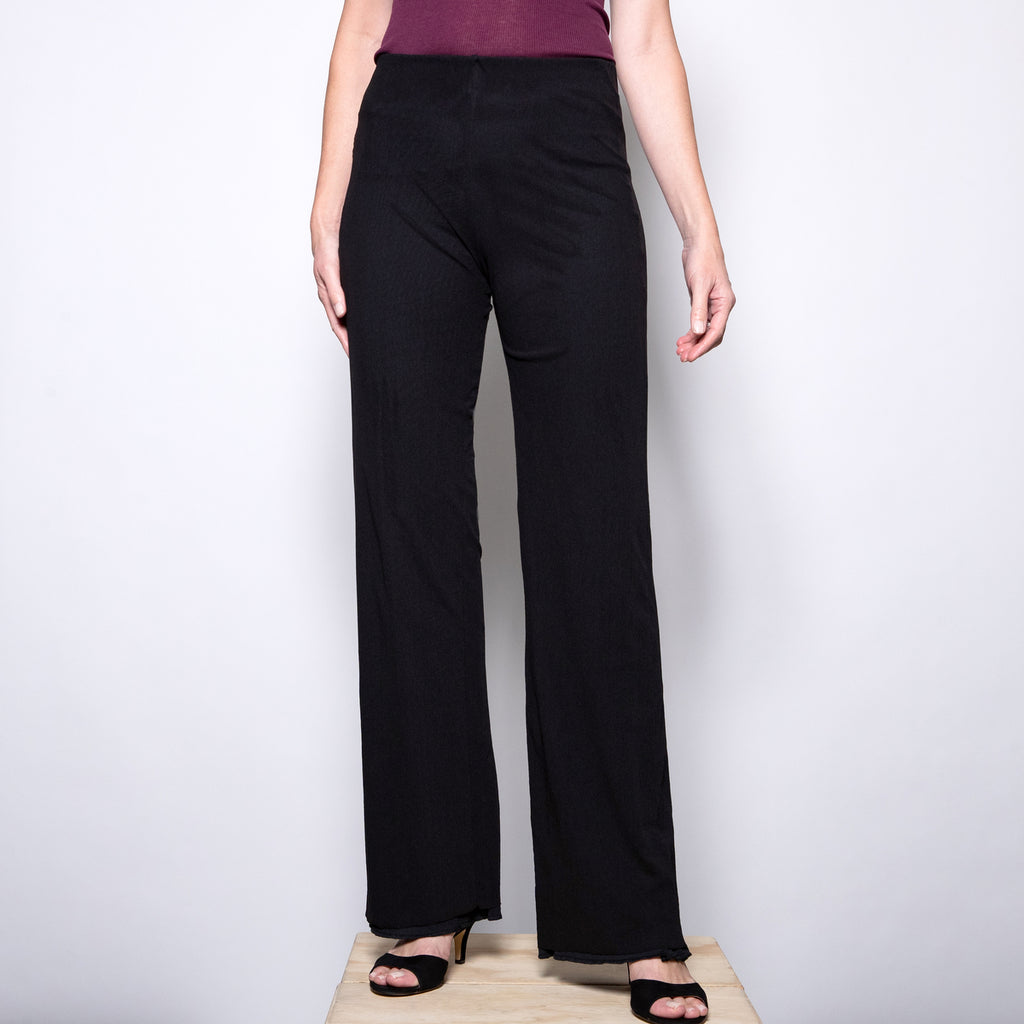 Petit Pois Double Mesh Pant in Black