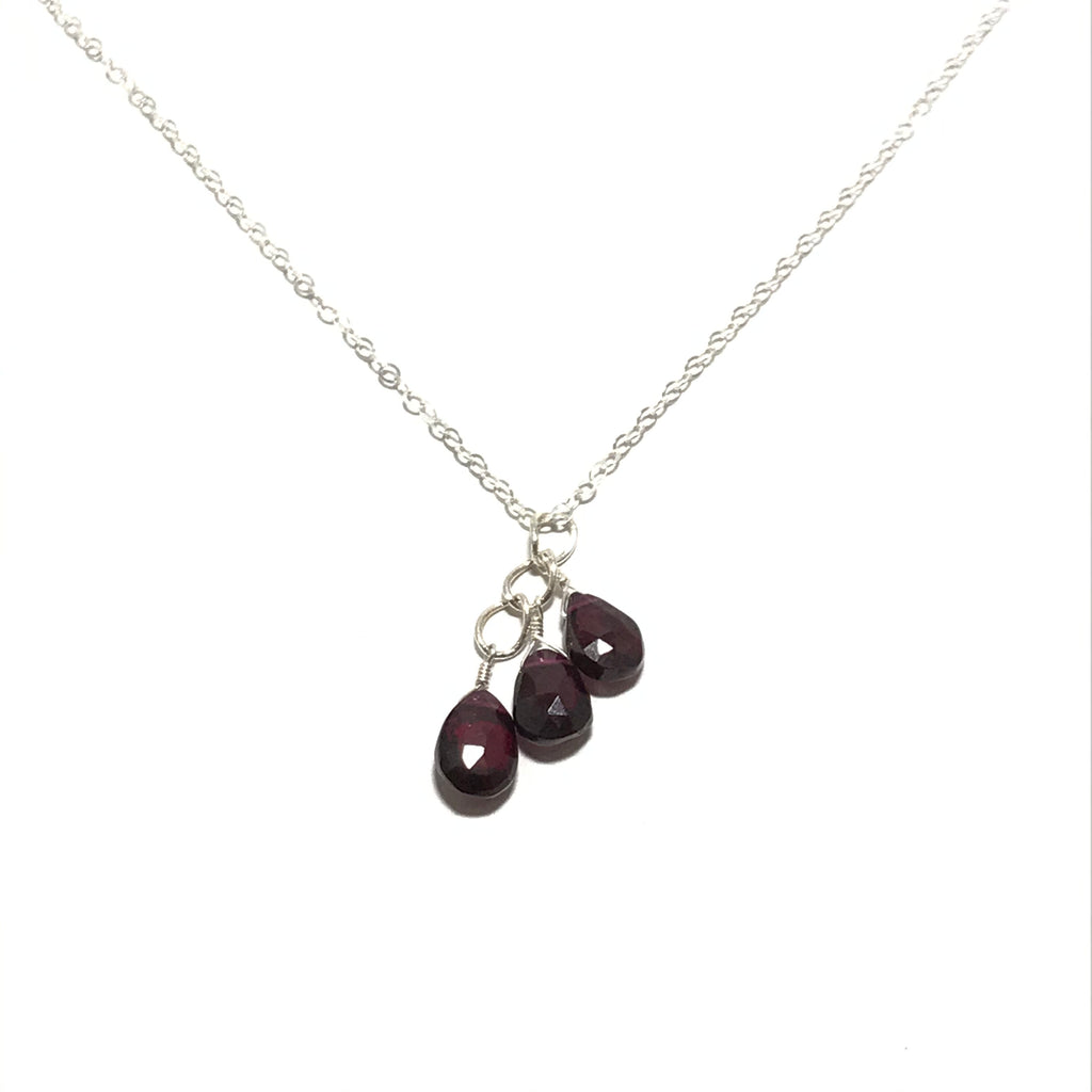Meridian Cluster Garnet Necklace