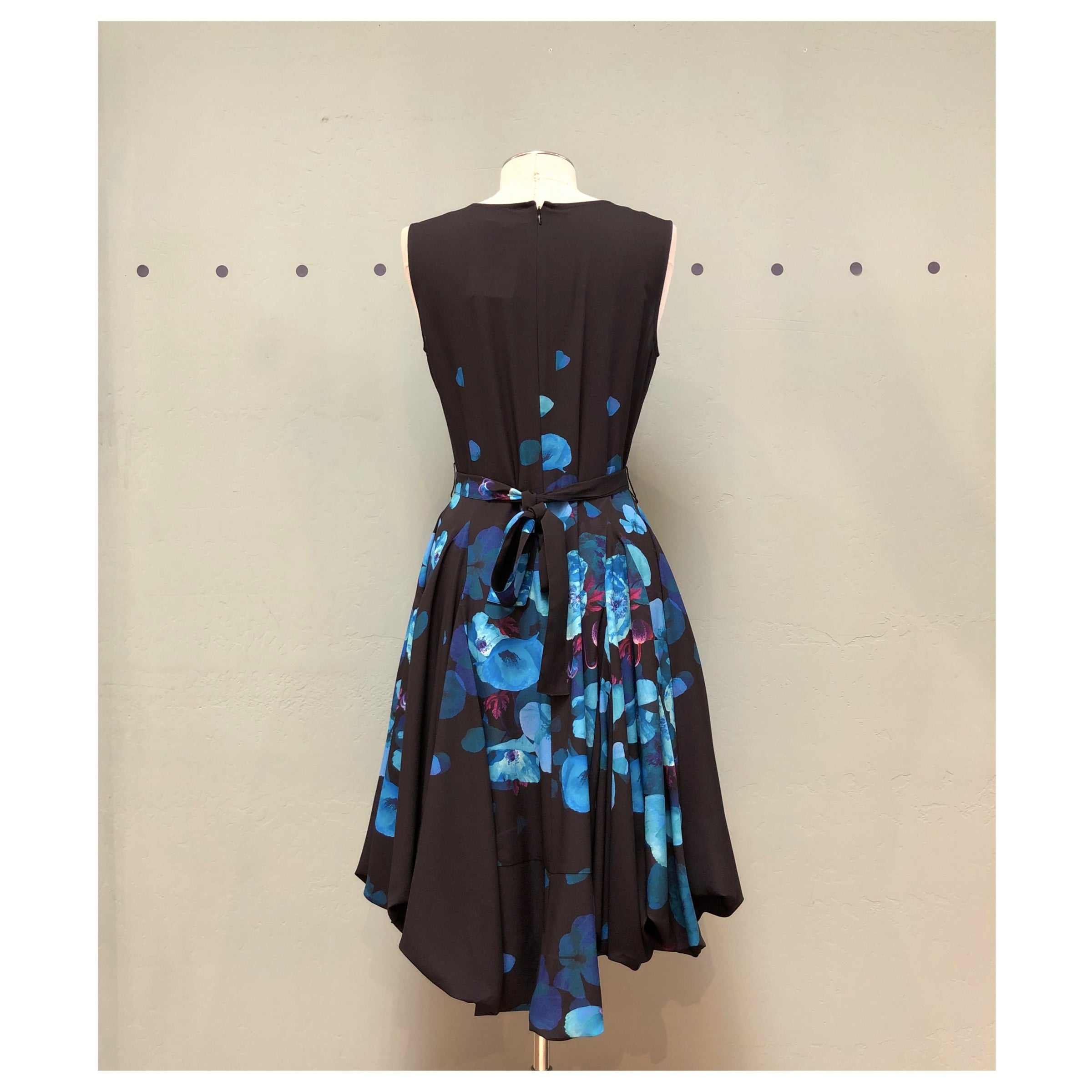 Samuel Dong Blue Poppy Dress