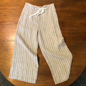 Colour 5 Power Khaki and White Pinstripe Pants