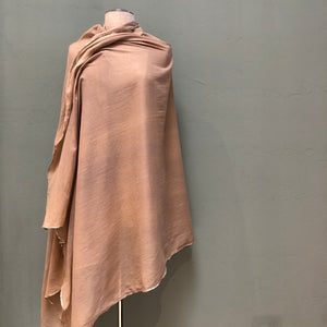 Carolina Amato silk cotton gold trimmed shawl