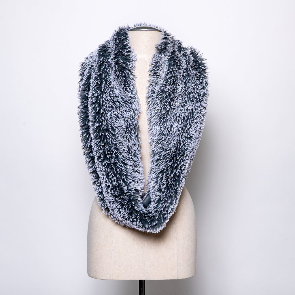 Pandemonium Double Cowl Shrug in Slate/blue slate