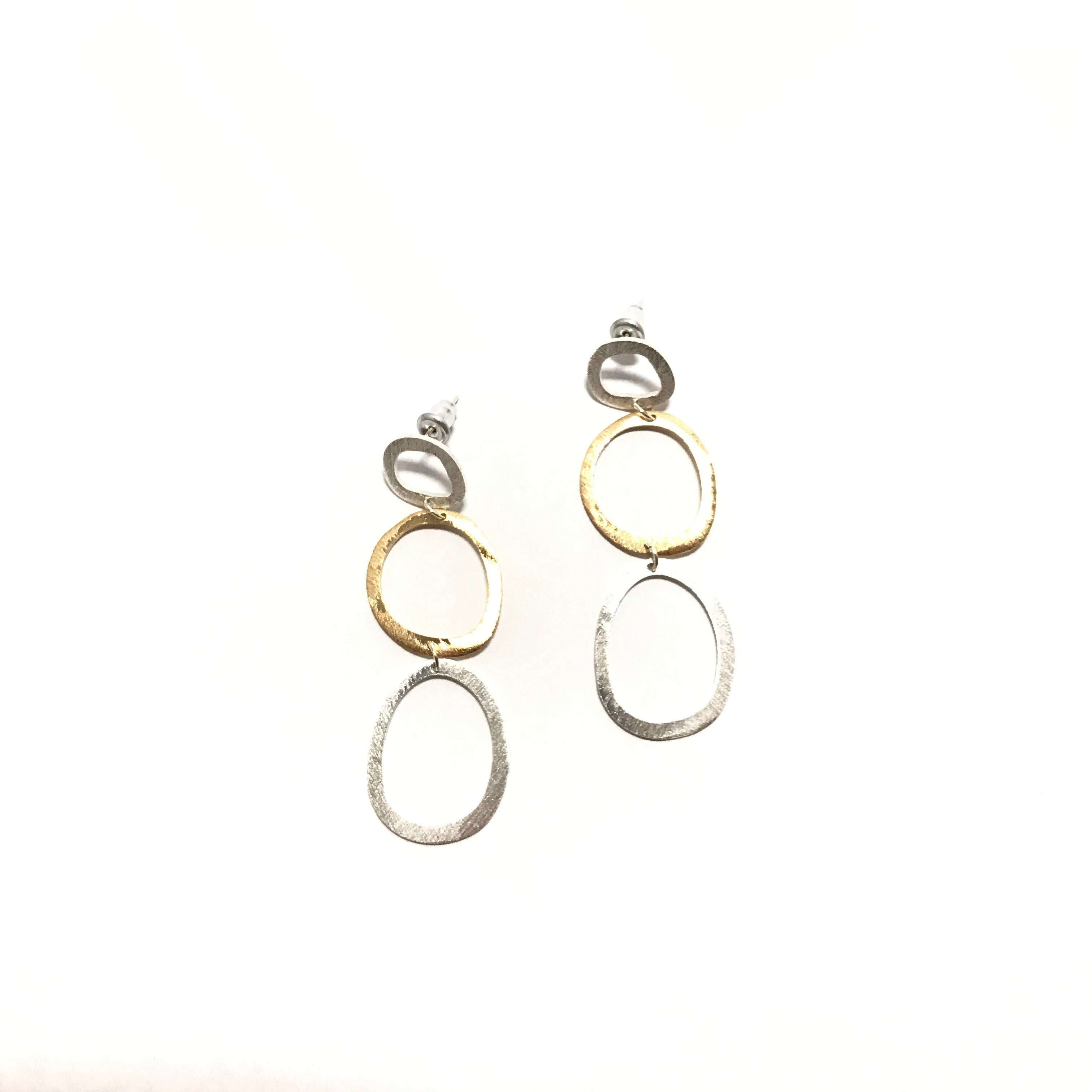 Takobia Tri-Circle Post Earrings