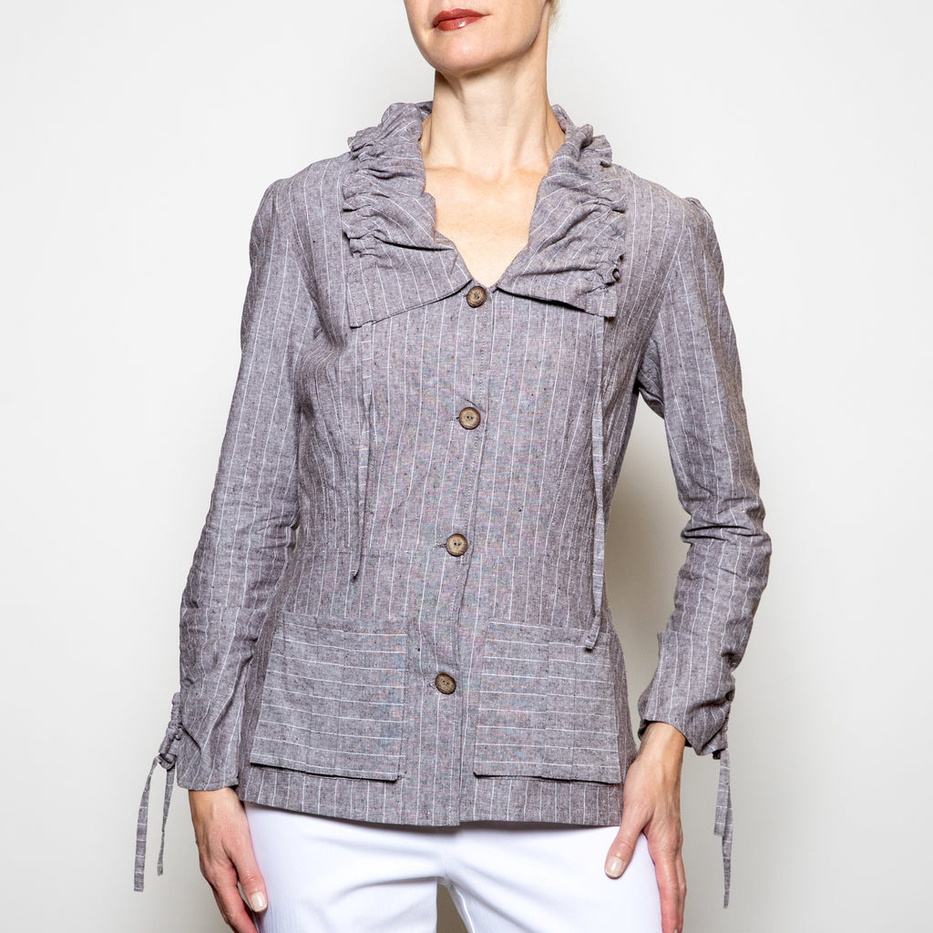 Hanna For La Journee Rushed Collar Jacket