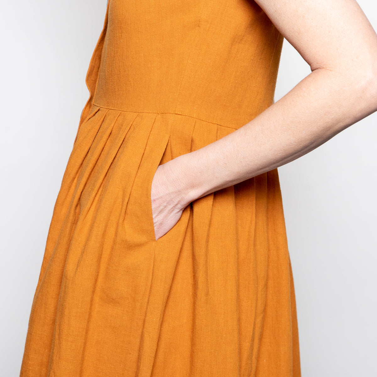 The Korner Lila Dress in Camel