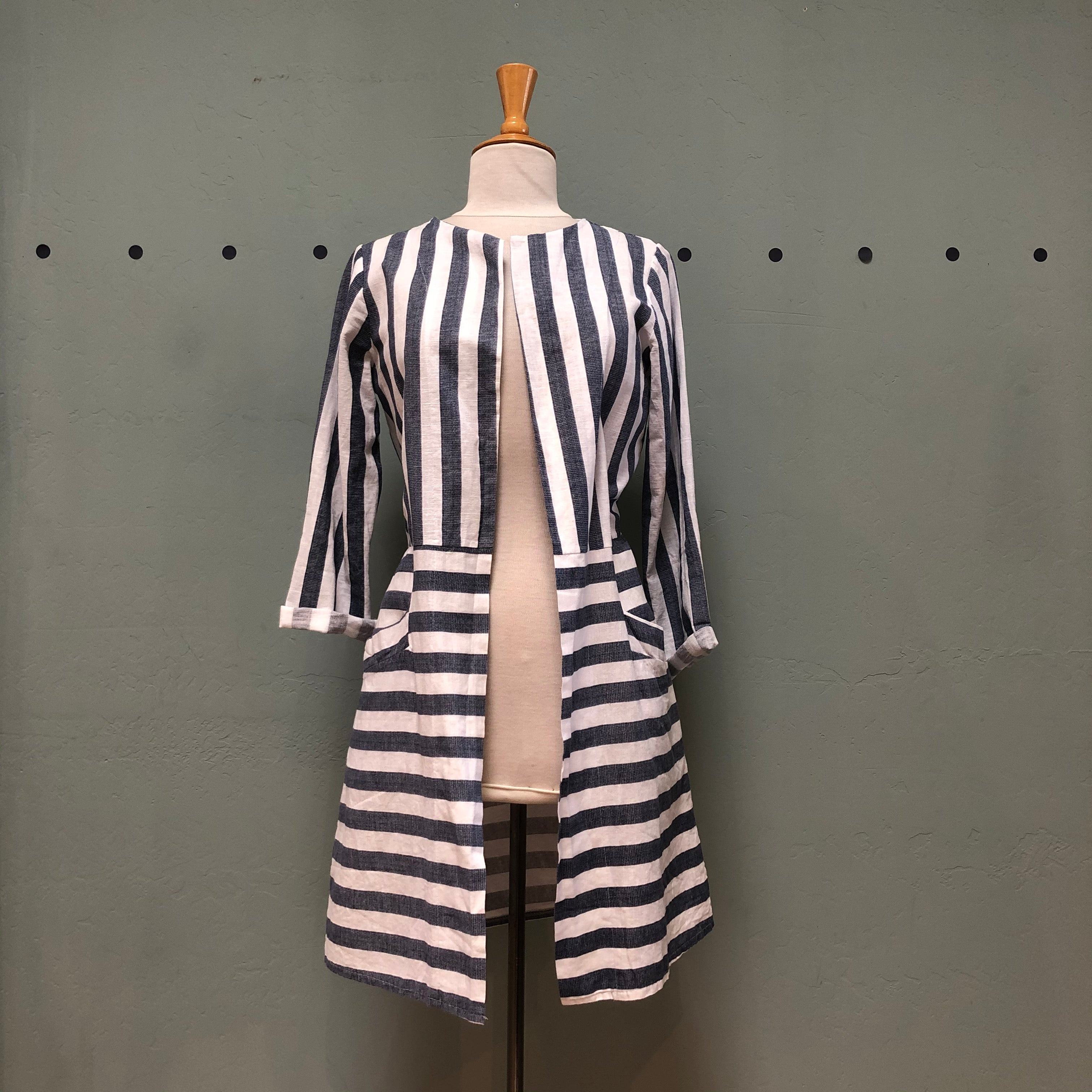 M Made Striped Duster