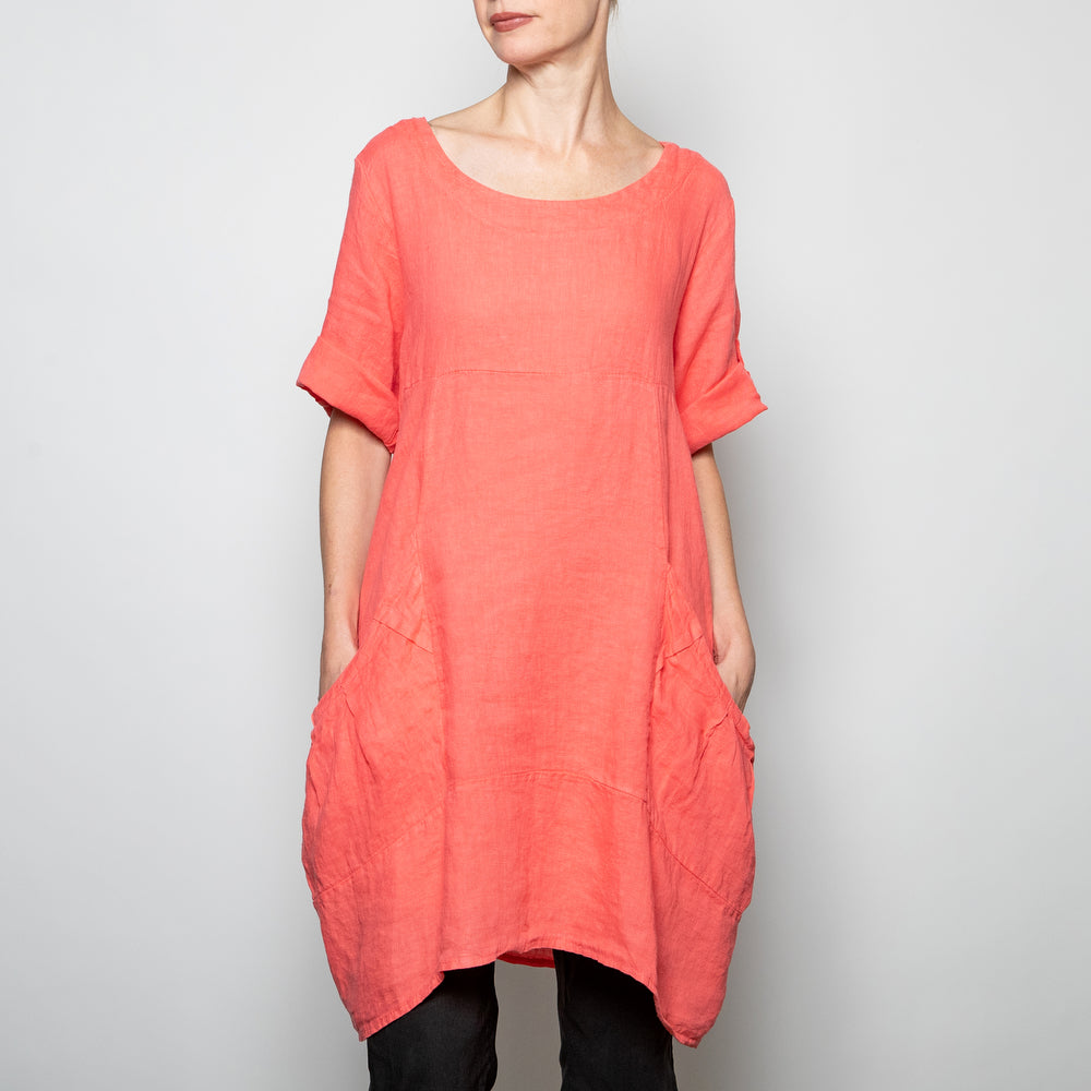 Kaktus Easy Tunic/Dress in Coral