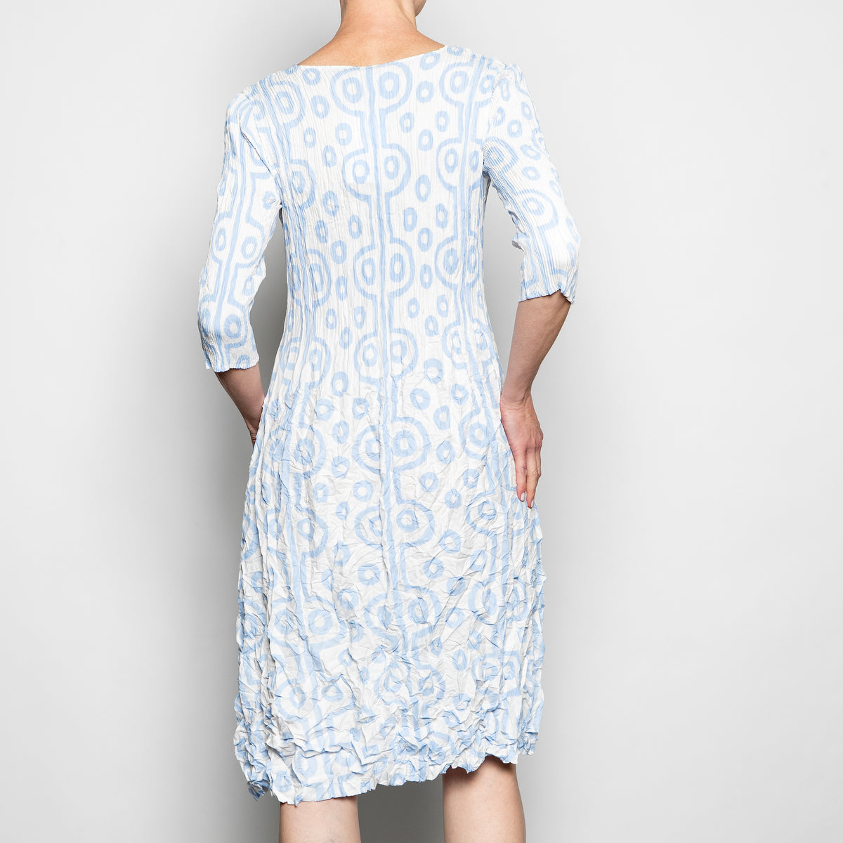 Alquema 3/4 Sleeve Smash Dress in Ivory Cashmere Tribal