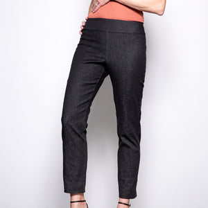 Krazy Larry Pull On Pant in Black Denim