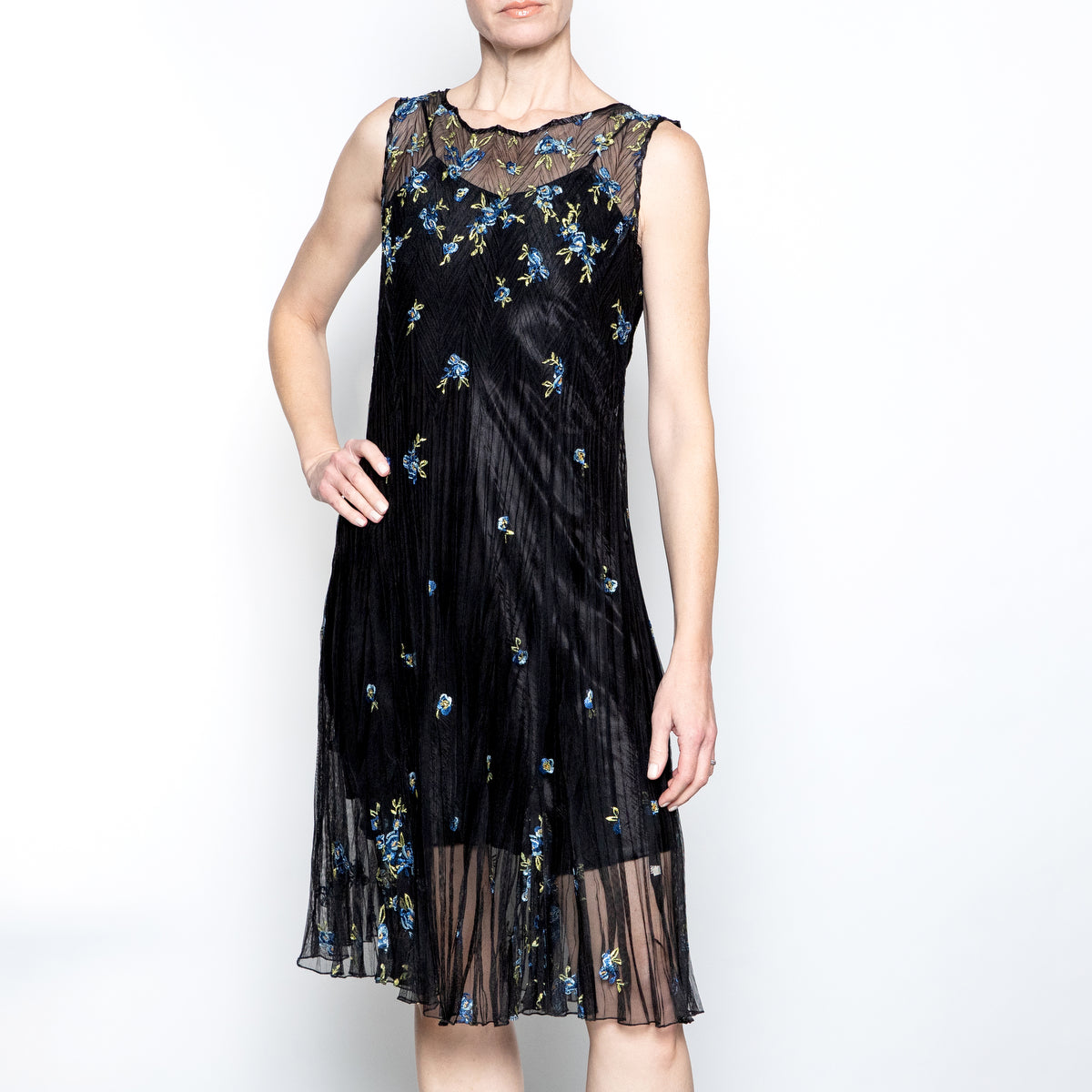 Komarov Embroidered Dress