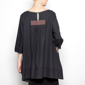 Peacock Ways Anna Blouse in Black